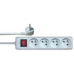 Predlžovačka so 4 zásuvkami + vypínač