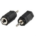 Stereo audio adaptér  3,5mm JACK F - 2,5mm JACK M
