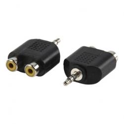 Stereo redukcia audio stereo Jack 3,5mm M - 2xCINCH F