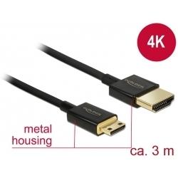 Kábel HDMI A - HDMI Mini-C 3D 4K norma HDMI 2.0 aktívni