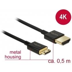 Kábel HDMI A - HDMI Mini-C 3D 4K norma HDMI 2.0
