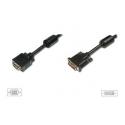 Prepojovací kábel DVI-I - VGA  M/M dual link