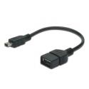 USB redukcia AF - USB mini 5pin M normy  USB 2.0 - zapojenie OTG