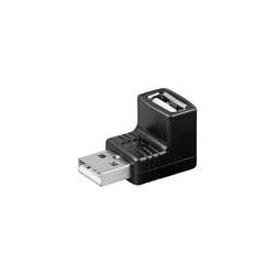 USB spojka AF-AM 90 stupňová normy USB 2.0