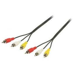 Prepojovací kábel 3 x CINCH M-M