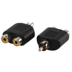 Mono audio adaptér 2xCINCH F - CINCH M