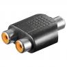 Mono audio adaptér 2xCINCH F - CINCH F