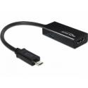 Adaptér HDMI F - micro B M USB  -rozhranie MHL