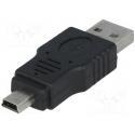 USB redukcia AM - Mini 5pin M norma USB 2.0