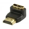 Spojka HDMI A M - A F uhlová -90 stupňov