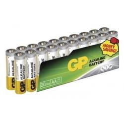 Batérie GP AA  alkalické - 20 ks