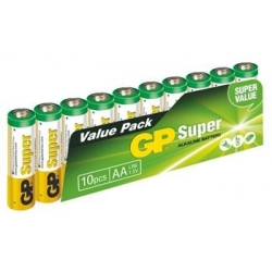 Batérie GP AA Super, alkalické - 10 ks, fólia