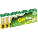 Batérie GP AAA Super, alkalické - 10 ks, fólia