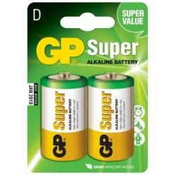 Batéria GP Super D, LR20, veľké mono, Alkalická, 1.5V
