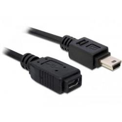Predlžovací kábel USB mini 5pin M -USB mini 5pin F norma USB 2.0