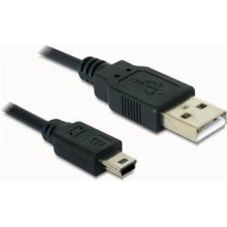 Prepojovací kábel USB AM - USB mini 5pin M norma USB 2.0